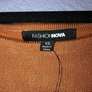 d6584fa4c12 Fashion Nova Dresses - Burnt orange sweater dress